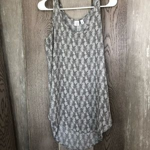 Nordstrom's Brass Plum high low tank top size S